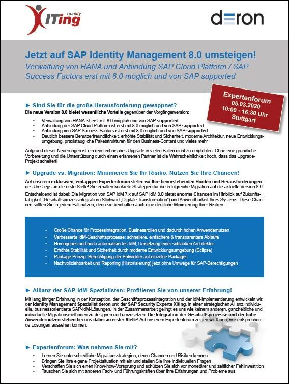 Switch to SAP IdM 8.0 now!