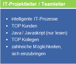 deron Job: IT-Projektleiter / Teamleiter